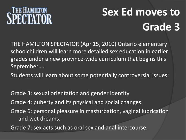 Sex Ed moves to