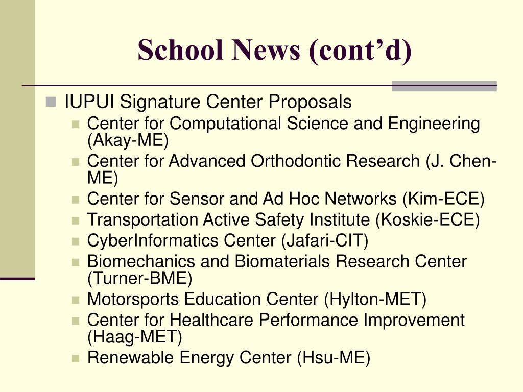 School News (cont'd)