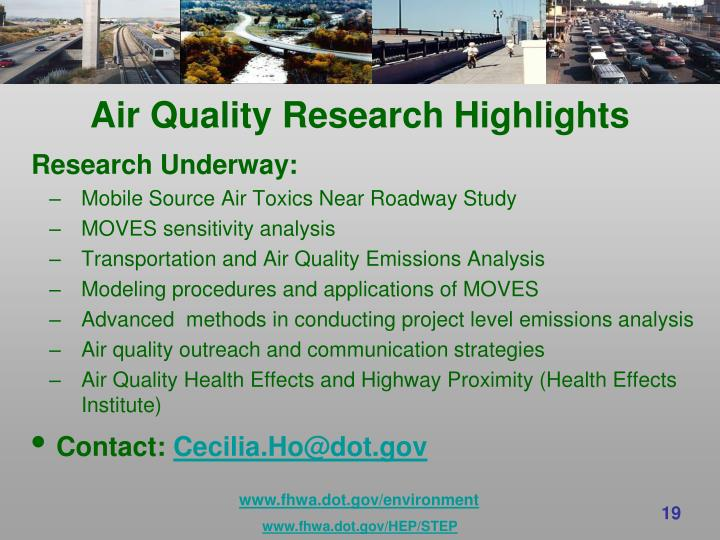 Air Quality Research Highlights