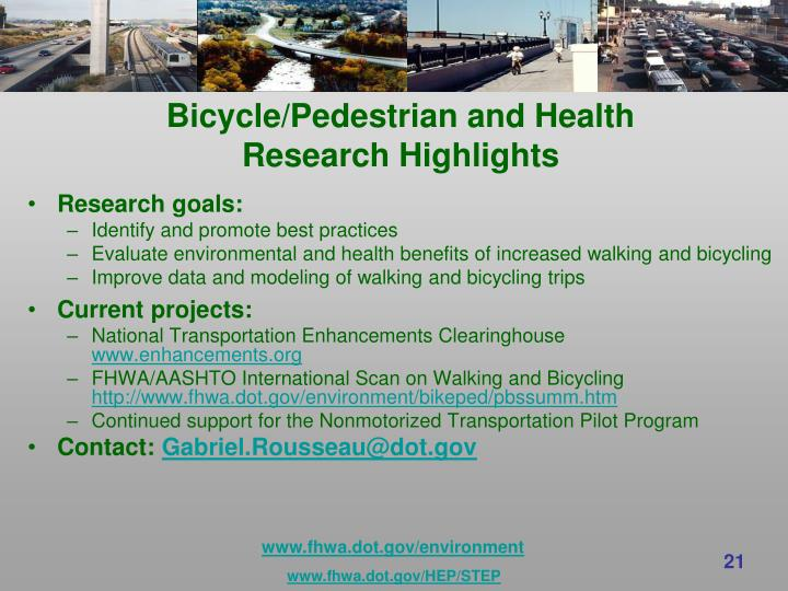 Bicycle/Pedestrian and Health