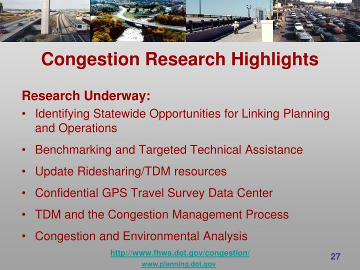 Congestion Research Highlights