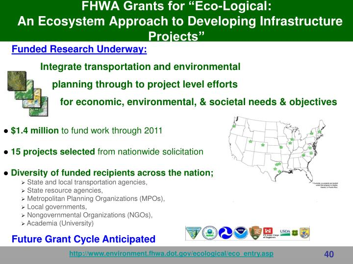 "FHWA Grants for ""Eco-Logical:"