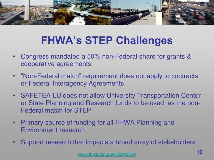 FHWA's STEP Challenges