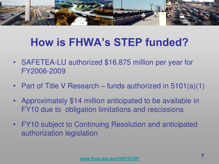 How is FHWA's STEP funded?