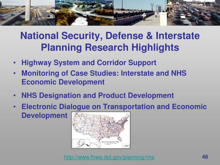 National Security, Defense & Interstate Planning Research Highlights
