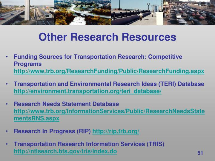 Other Research Resources
