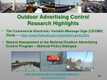 outdoor advertising control research highlights