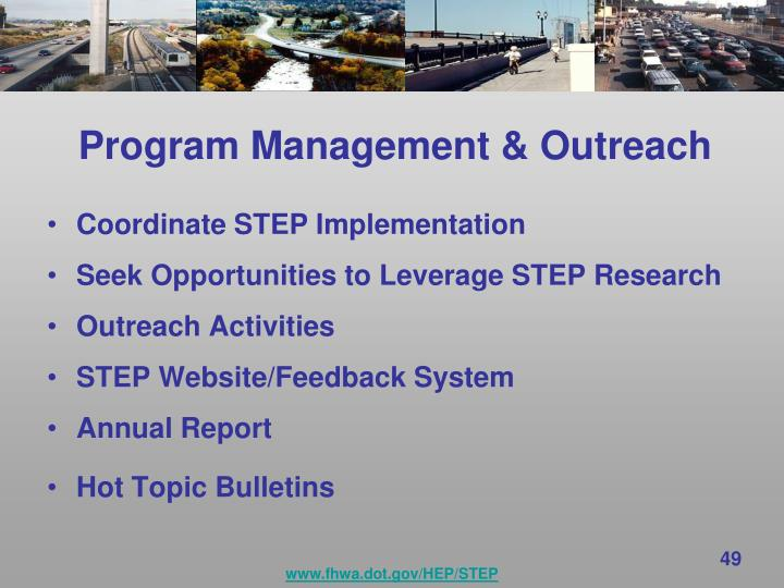 Program Management & Outreach