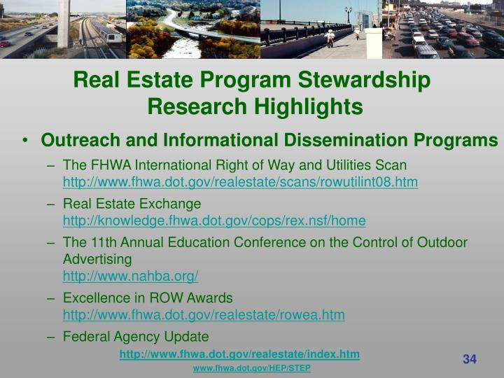 Real Estate Program Stewardship