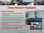 safety research highlights