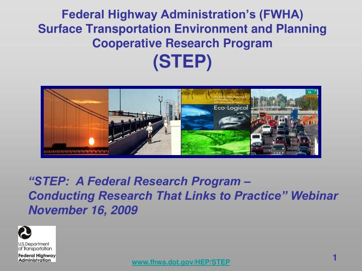 Federal Highway Administration's (FWHA)