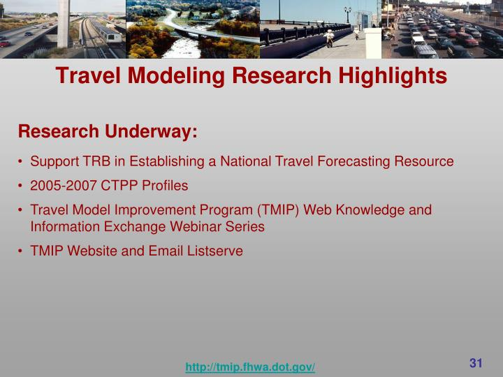 Travel Modeling