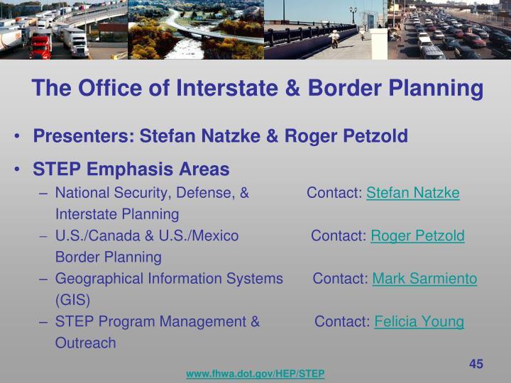 The Office of Interstate & Border Planning