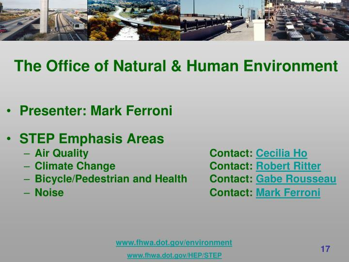 The Office of Natural & Human Environment