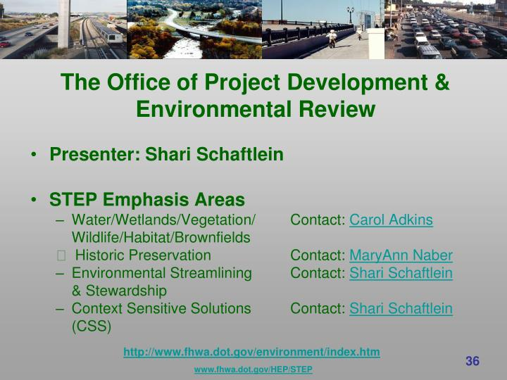 The Office of Project Development &