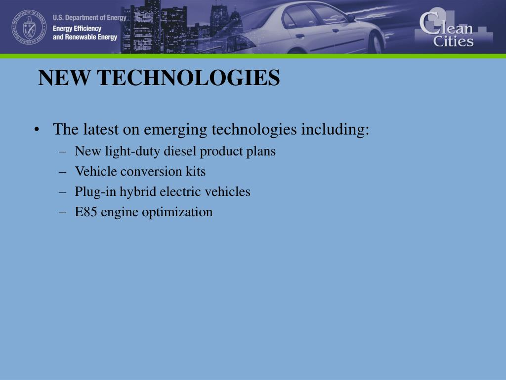 The latest on emerging technologies including: