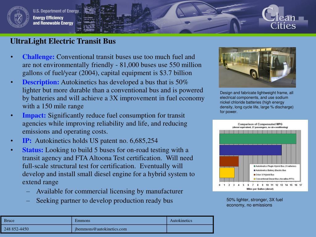 UltraLight Electric Transit Bus