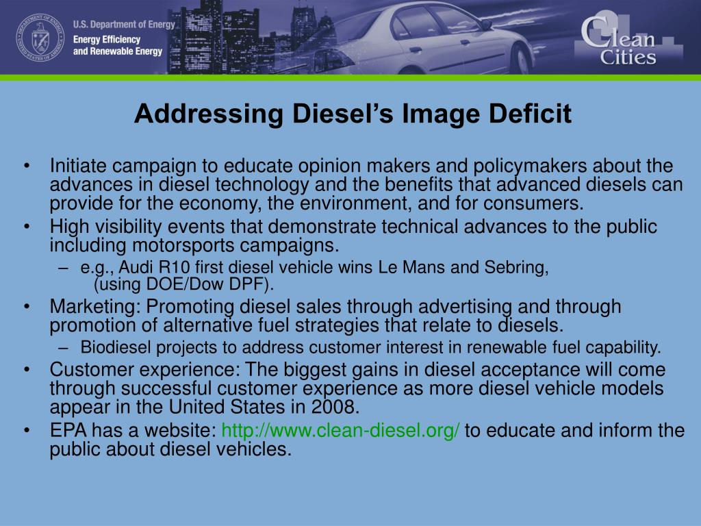 Addressing Diesel's Image Deficit