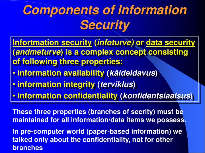 Components of Information Security