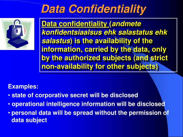 Data Confidentiality