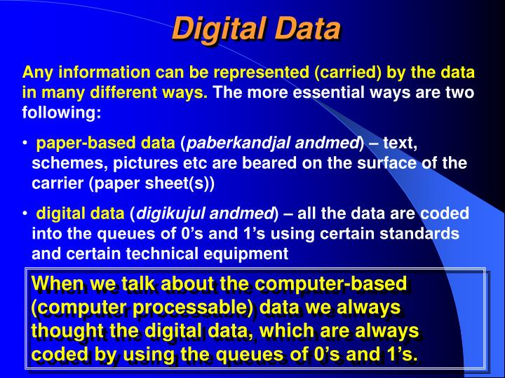Digital Data