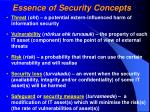 essence of security concepts