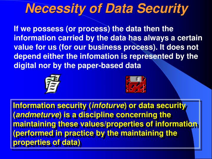Necessity of Data Security