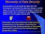 necessity of data security