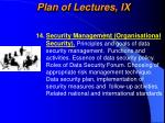 plan of lectures ix