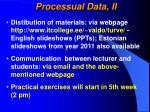 processual data ii