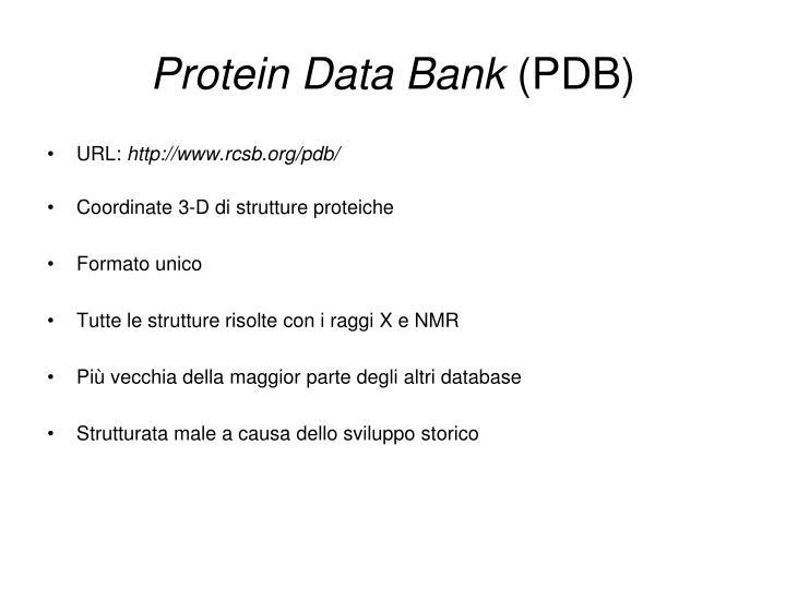 Protein Data Bank