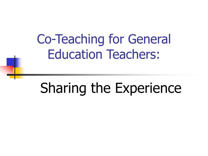 Co teaching for general education teachers