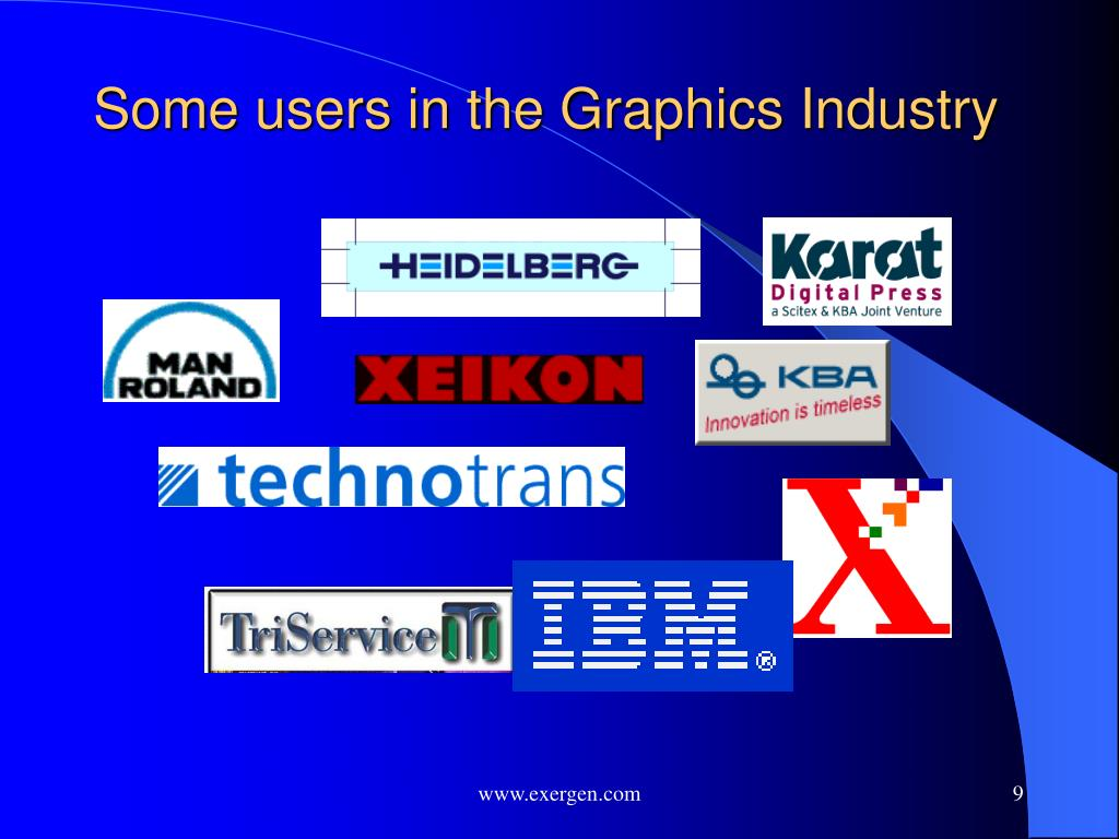 Some users in the Graphics Industry