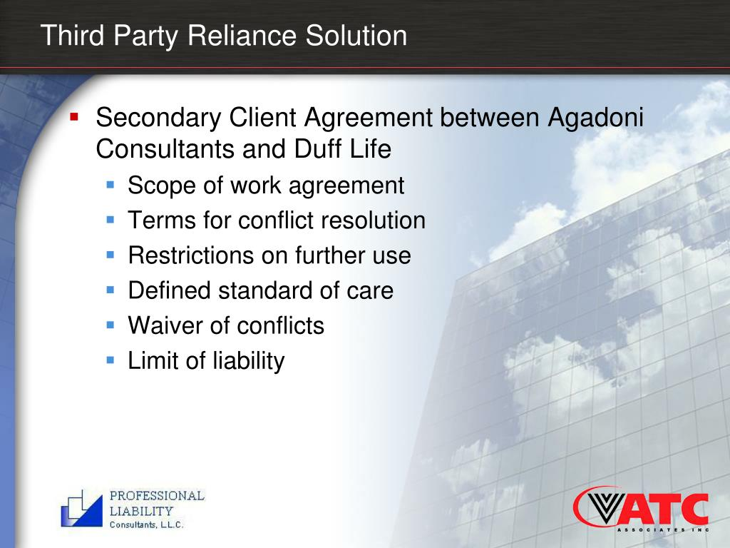 Third Party Reliance Solution