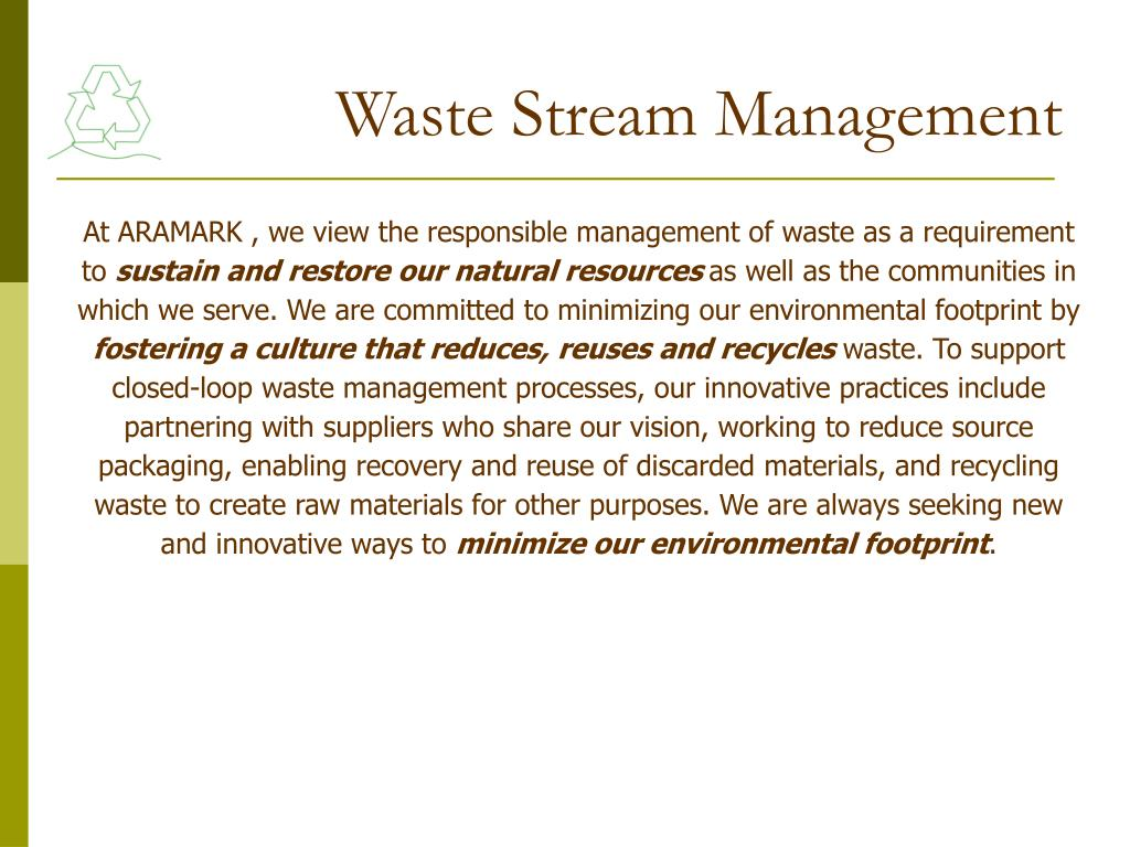 Waste Stream Management