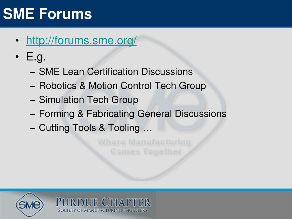SME Forums