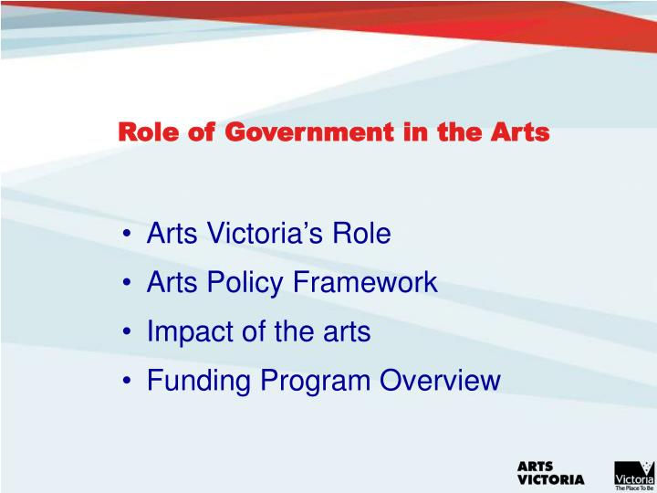 Role of government in the arts