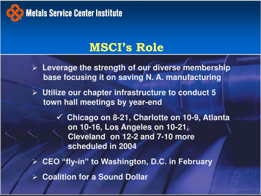 Leverage the strength of our diverse membership base focusing it on saving N. A. manufacturing