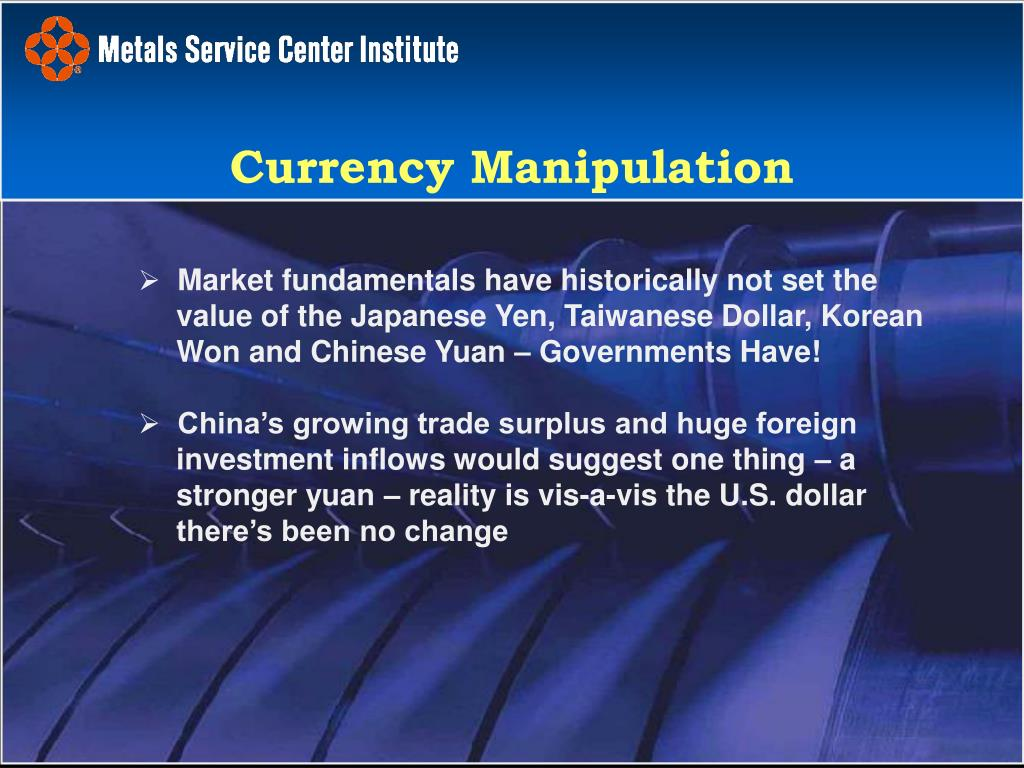 Market fundamentals have historically not set the value of the Japanese Yen, Taiwanese Dollar, Korean Won and Chinese Yuan – Governments Have!