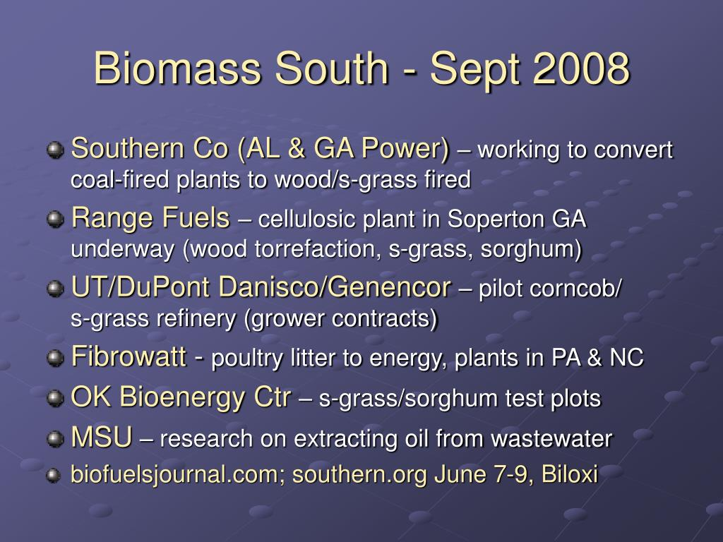 Biomass South - Sept 2008