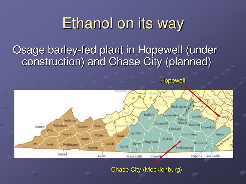 Ethanol on its way