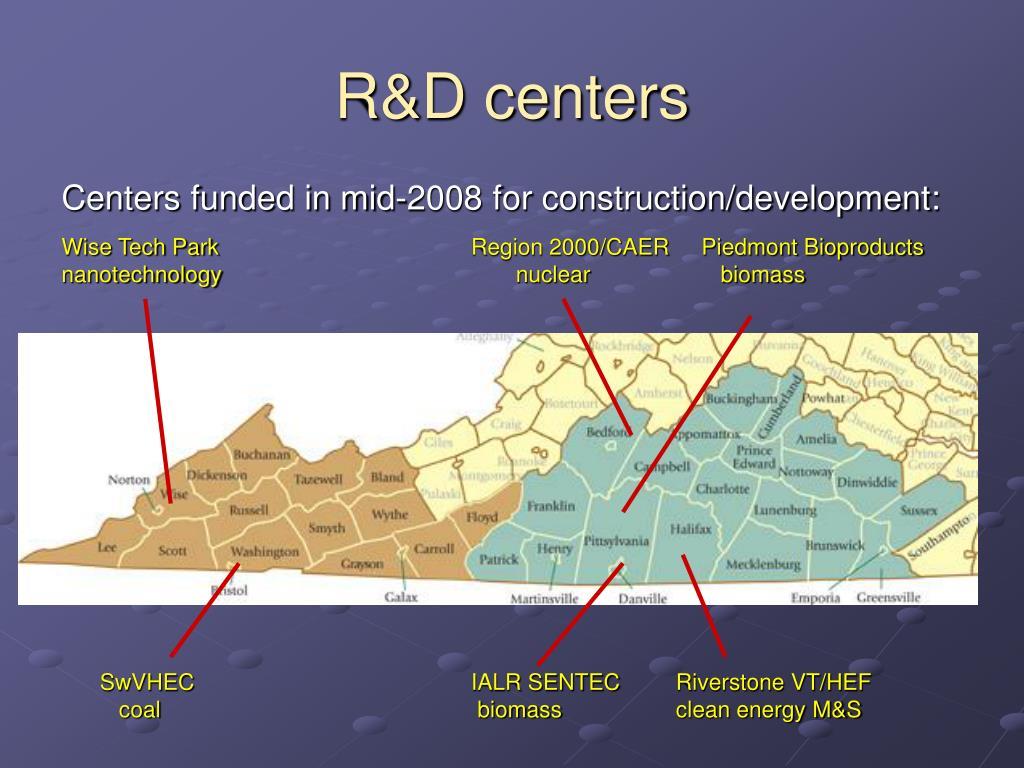 R&D centers