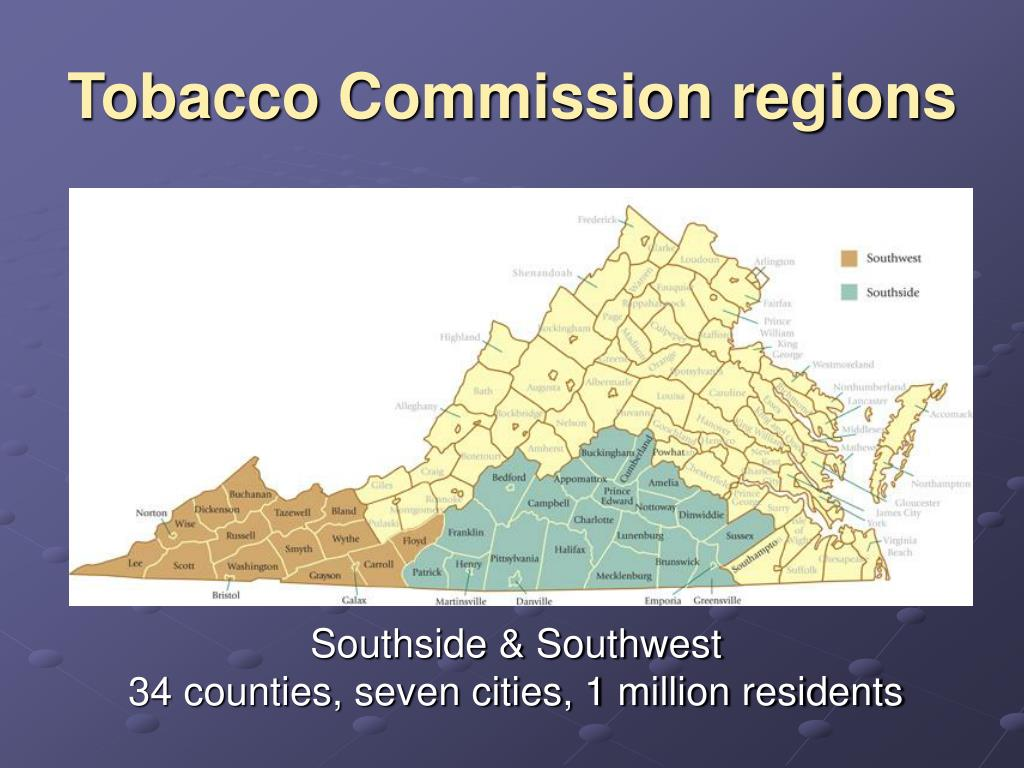 Tobacco Commission regions