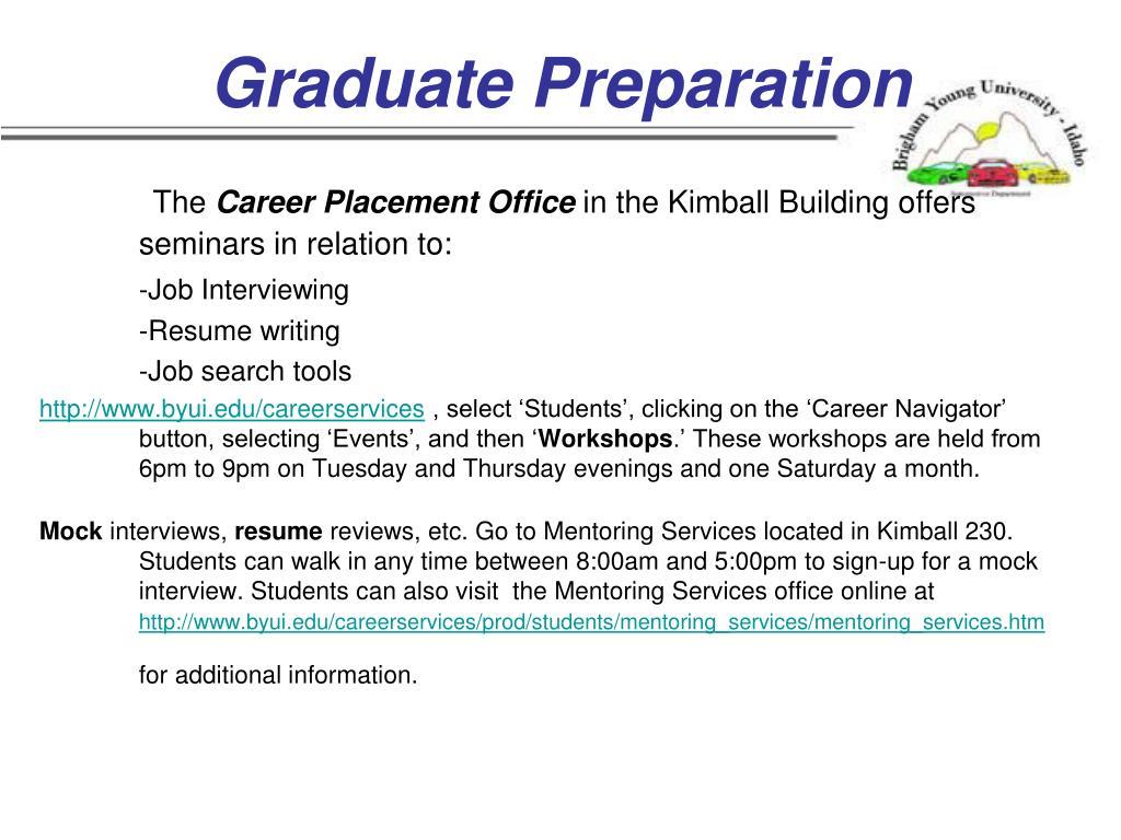 Graduate Preparation