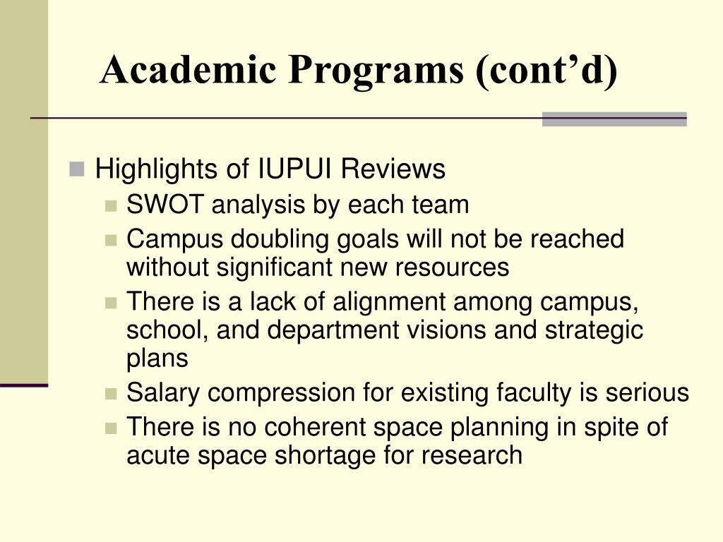 Academic Programs (cont'd)