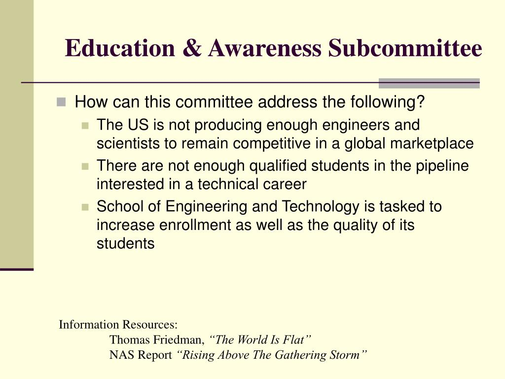 Education & Awareness Subcommittee