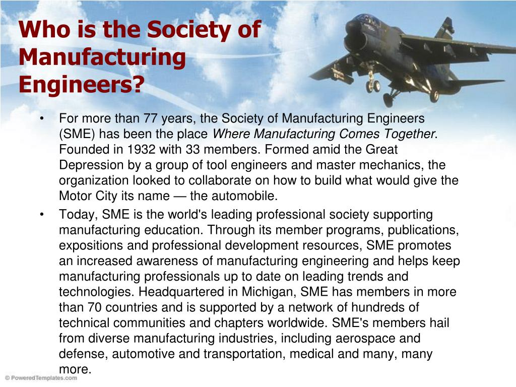 Who is the Society of Manufacturing Engineers?