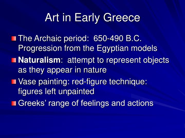 Art in Early Greece