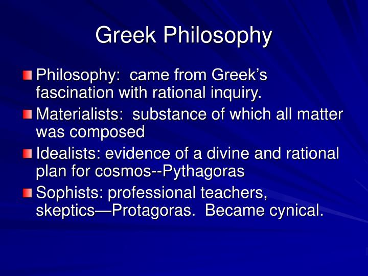 Greek Philosophy