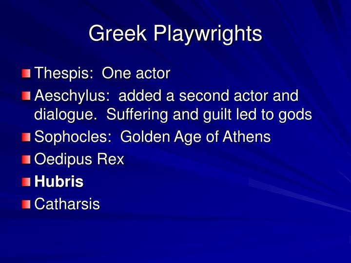 Greek Playwrights